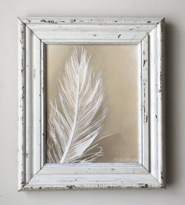 White Feather. Acrylic on Canvas. SOLD