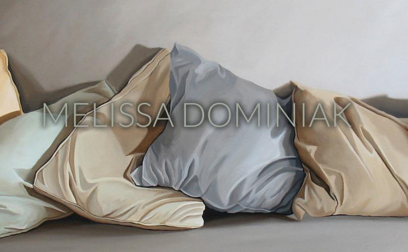 Pillows. Acrylic on Canvas. 64x20