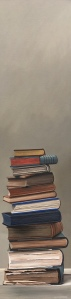 """Stack of Books. Acrylic on Canvas. 12""""x48"""". $1200"""