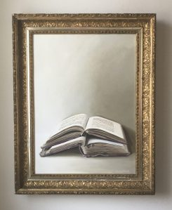 "Two Open Books 23""x30"" (with frame) $1200"
