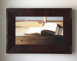 "Open Book 26.5"" x 18.5"" with frame $895"