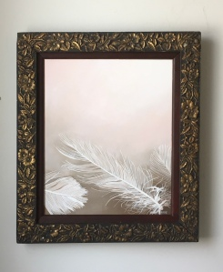 Three Feathers 14x27 with frame $895
