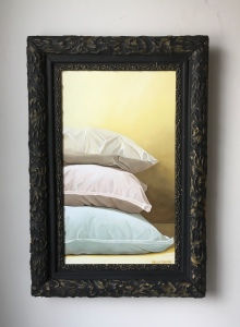 "Three Pillows 17.5"" x 25.5"" with frame $895"