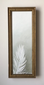 "White Feather 7.5"" x 19.5"" with frame $395"