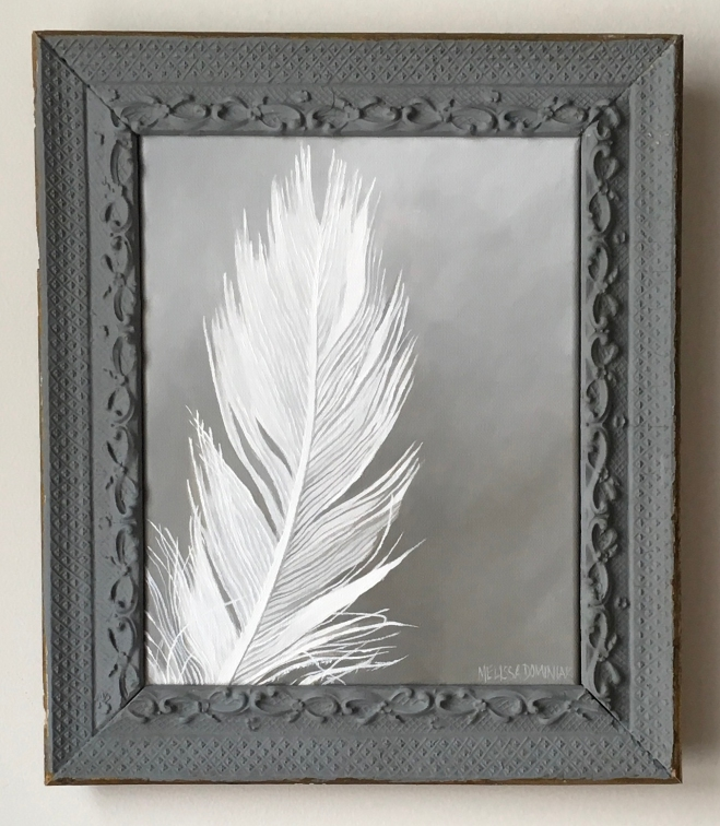 Feather. 13 x 15. $275