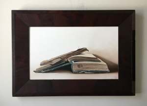 Open Books 26.5x18.5 with frame $895