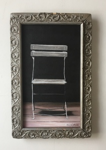 "Metal Chair 10""x16"" with frame SOLD"