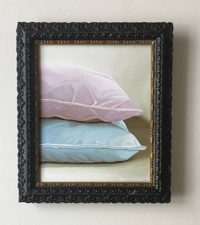"""Two Pillows 10.5""""x12.5"""" with frame $275"""