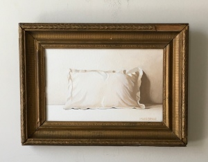 "One Pillow. 15"" x 11"" with frame. $395"