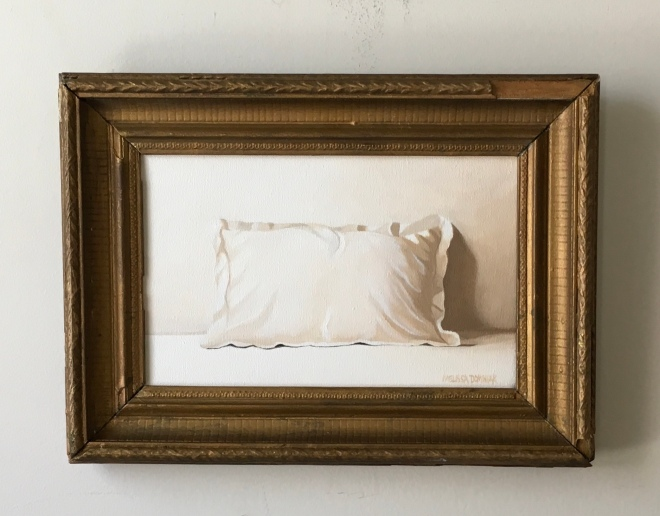 """One Pillow. 15"""" x 11"""" with frame. $395"""