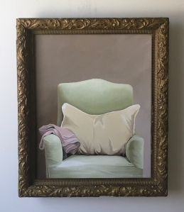 "Chair with Pillow 20"" x 24"" with frame $895"