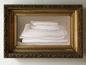"Pile of Sheets 22"" x 15"" with frame $575"