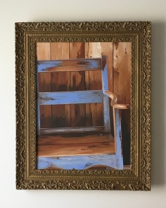 "Wooden Chair 21"" x 25.5"" with frame $895"