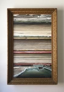 "Old Books 27"" x 41"" with frame. $1800"