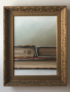 "Pile of Books. 22"" x 28"" with frame. $995"