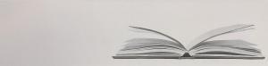 """White Book. 48"""" x 12"""". $1200"""