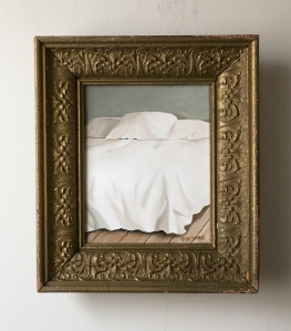 "Bed. 13"" x15"" with frame. $395"