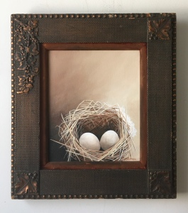 """Two Eggs. 17"""" x 19"""" with frame. $525"""