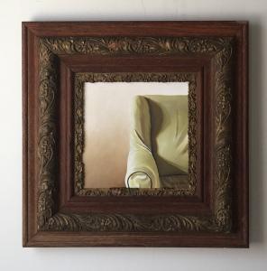 """Armchair. 20.5"""" x 20.5"""" with frame. $525."""