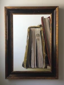 """One and a Half Books. 32"""" x 44"""" with frame. $3400"""