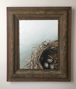 "Bird's Nest. 25.5"" x 29.5"" with frame. $1400."