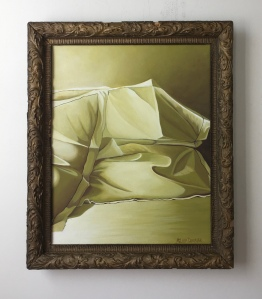 """Green Pillows. 20"""" x 24"""" with frame. $895"""