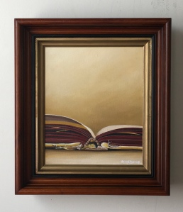 """One Open Book. 14.5"""" x 16.5"""" with frame. $525."""