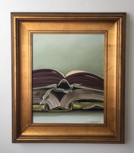 """Two Open Books. 26"""" x 29"""" with frame. $1400."""